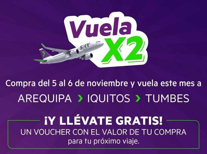 promocion vuela x2 noviembre 2020 sky airline