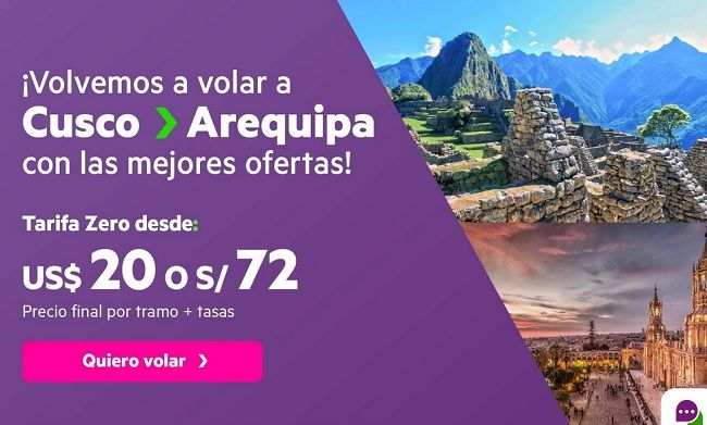 vuelos cusco arequipa sky airline