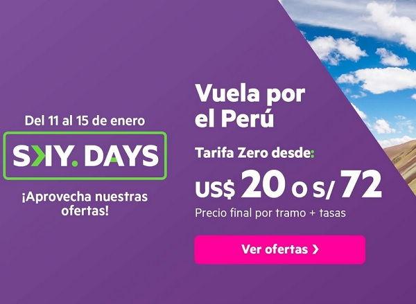 Sky Days 2021 en Pasajes Aéreos con Sky Airline
