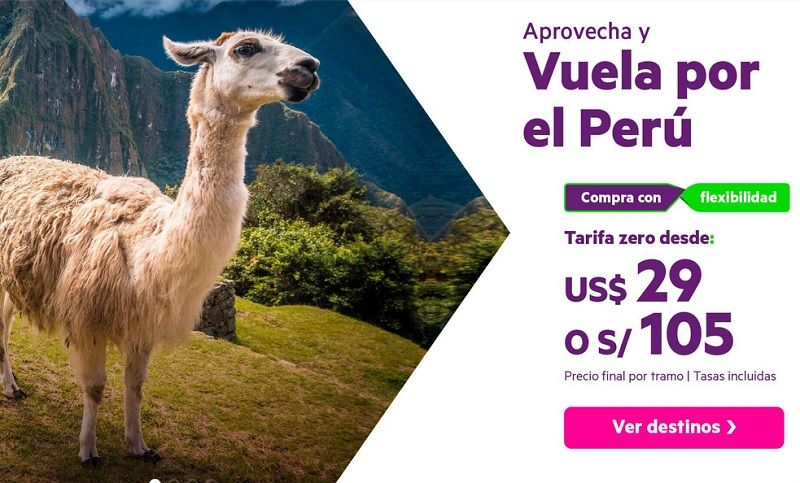 Vuela por el Perú con Sky Airline al Mejor Precio